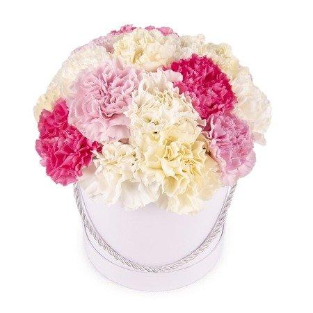 """Flower Box """"Pastelowe goździki"""""""